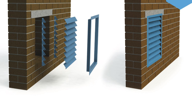 Фасадная ламельная система в качестве вентиляционной решетки